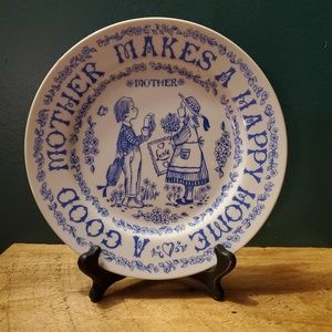 Vintage Mother Collectable Plate.